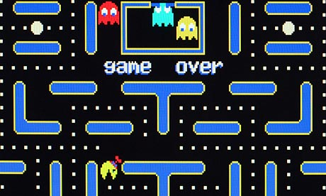 Pacman video screen shot