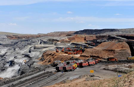 A mining project in Xilinhaote, Inner Mongolia