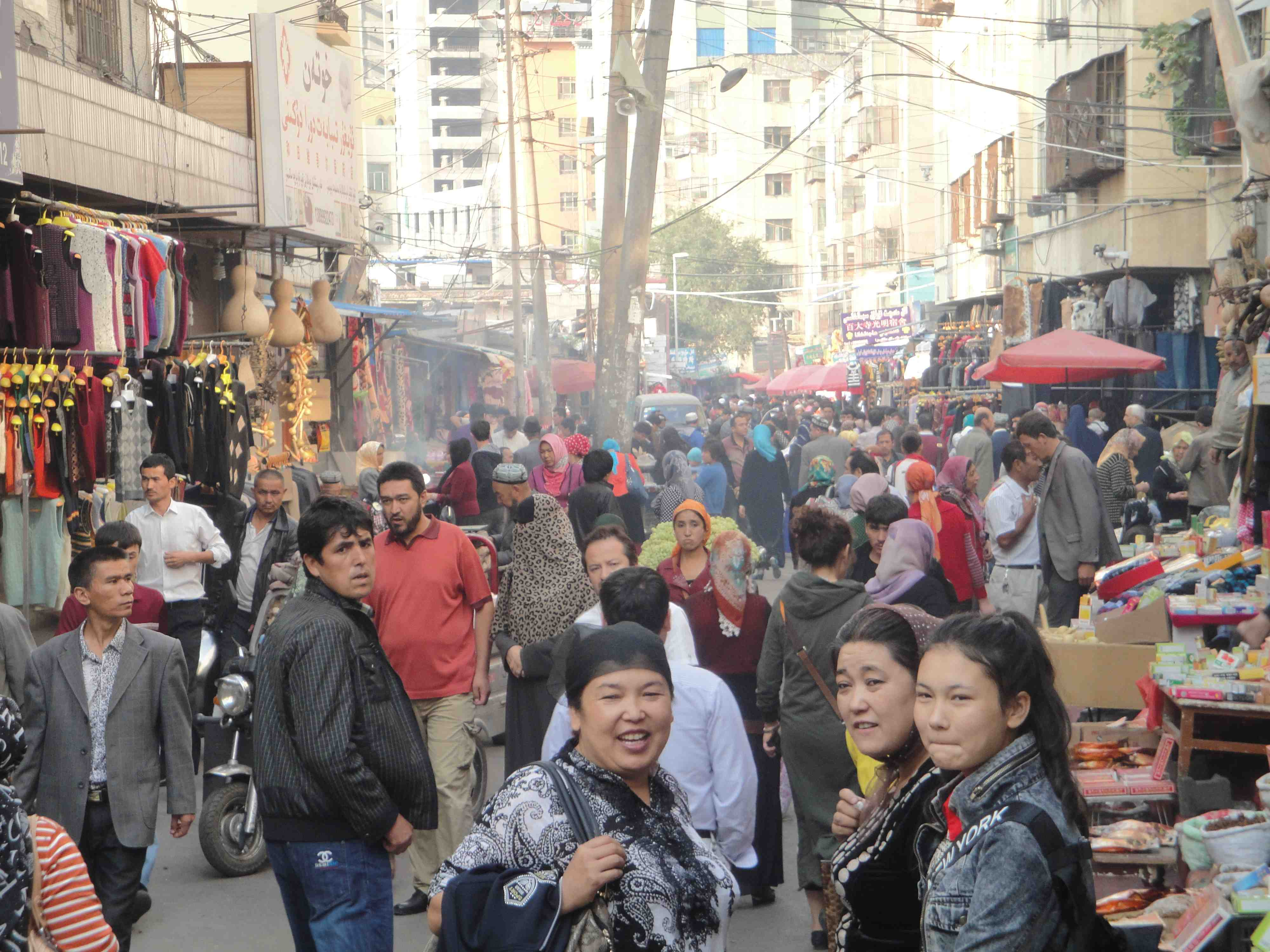 Back street in Urumqi, September 2013