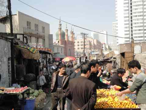 Back street market in Urumqi